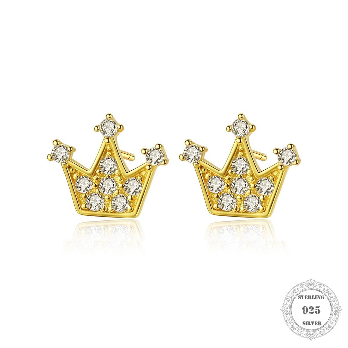 Pendientes de tuerca corona, estilo Thomas Glam joyería buena de moda para las mujeres, regalo 2020Ts en plata de ley 925, superoferta