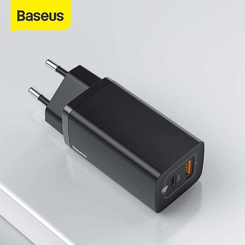 Baseus 65 واط غان شاحن PD USB C شاحن سريع تهمة 4.0 3.0 المزدوج USB ميناء شاحن الهاتف ForiP forشاومي forسامسونج المحمول