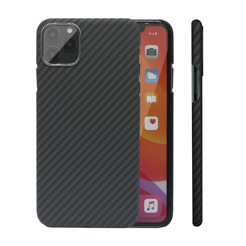 الكربون الألياف حالة ل فون X XS ماكس XR 7 11 12 البسيطة حالات الأراميد الألياف رقيقة جدا غطاء الهاتف ل فون 12 11 برو ماكس SE حالة