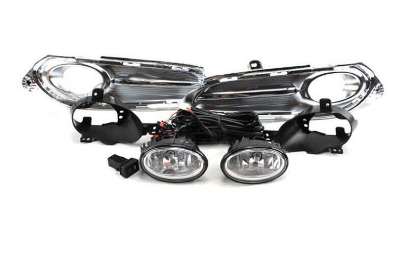 1 zestaw samochodów zderzak reflektor dla Honda HRV światła przeciwmgielne HR-V 2014 ~ 2017y żarówka halogenowa 4300K przewód hanress reflektor do HR-V lampa przeciwmgielna