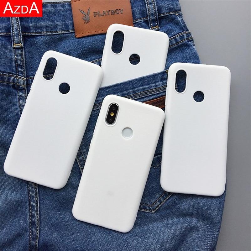 Branco fosco TPU silicone fundas Para Xiaomi redmi Nota 7 5 6 8 9 Pro T8 4X 5A 4A Além disso 7A 8A 6A 7A Mi 9T A1 A2 8 Lite 9 F1 Processo SE
