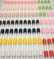 50100pcs3ml mini colorful caps transparent lipgloss tube small cosmetic lipstick sample bottle diy lip balm tubes