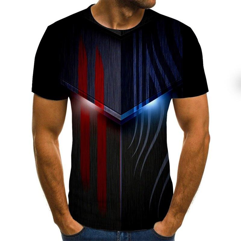 Futuristic men's T-shirt mecha graphic T-shirt fashion Harajuku tops summer casual short-sleeved street crew neck boys clothing
