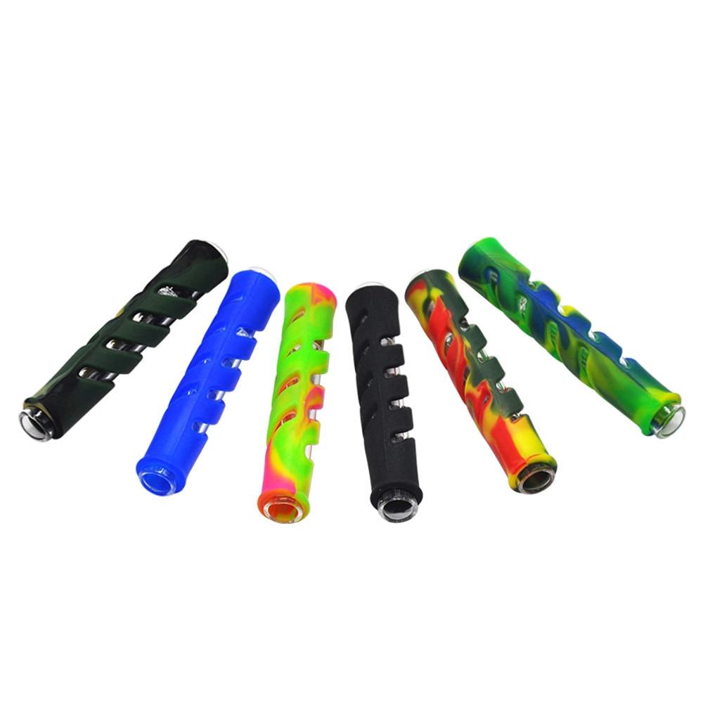 Tubo de vidrio reutilizable para fumar, puntas de filtro, boca enrollable, 100mm, accesorios de tubo de tolva de tabaco