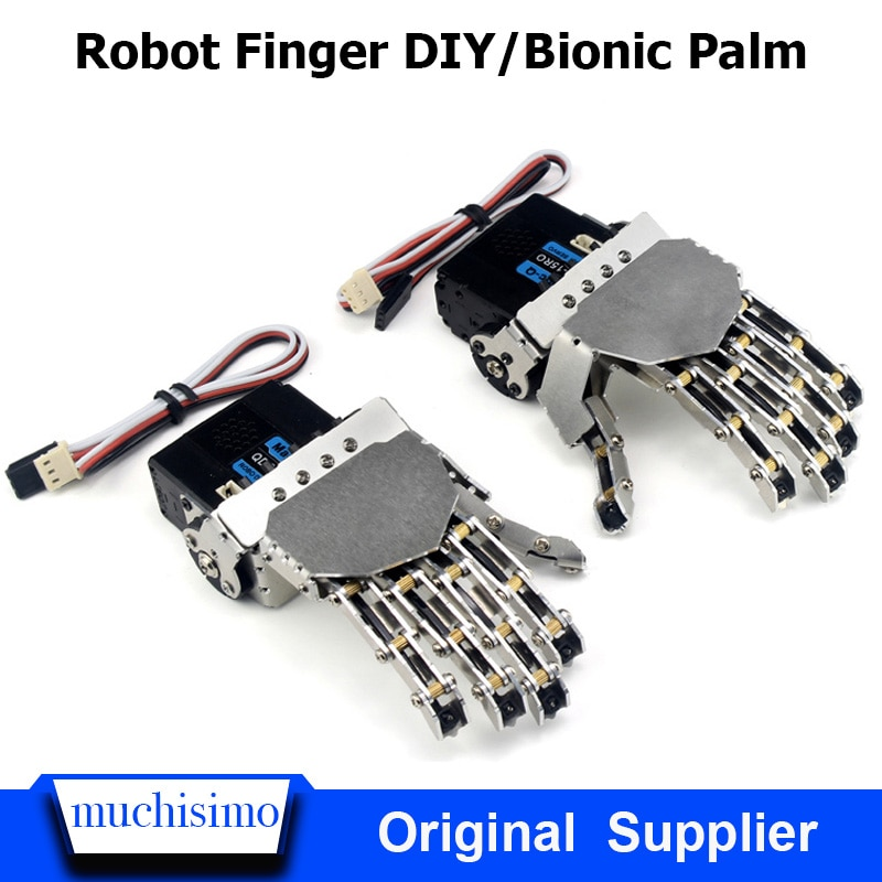 Dedo robô DIY biônico palma mão mecânica garra ligação educação e formação de controle do leme Robô dedo AI