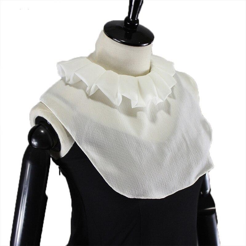 Gothic Half Shirt Fake Collar Handmade Detachable Neck Collars Vintage Costumes