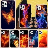 repeating spikes fire phone case for iphone 6 7 8 plus 11 12 promax x xr xs max se soft cover