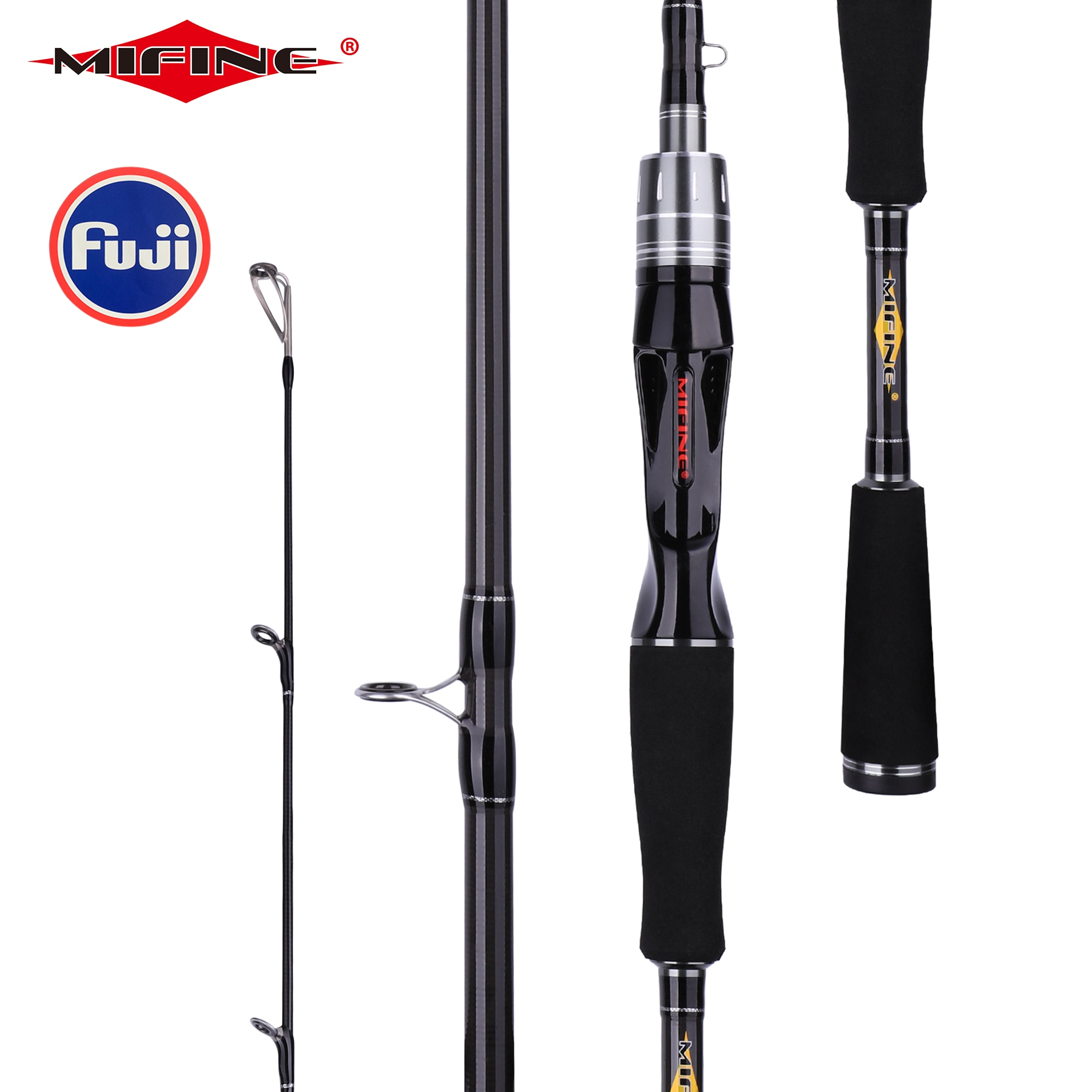AliExpress - MIFINE Baitcasting Lure Fishing Rod 1.68m 1.8m 2.1m 2.4m 2.7m 3.0m Carbon Casting FUJI Guide travel lure Rod 3-50g ML/M/MH