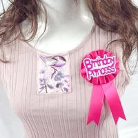 3pcs fabric badge sweet pink ribbon glitter letters satin flower and tail decoration for women girls happy birthday party event