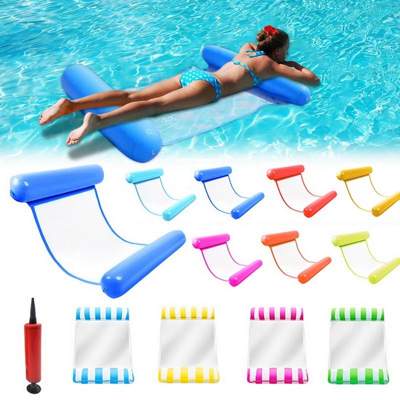 Waterhangmat fauteuil opblaasbare drijvende zwemmatras, zeezwemring, zwembadfeestspeelgoed, ligbed om in te zwemmen
