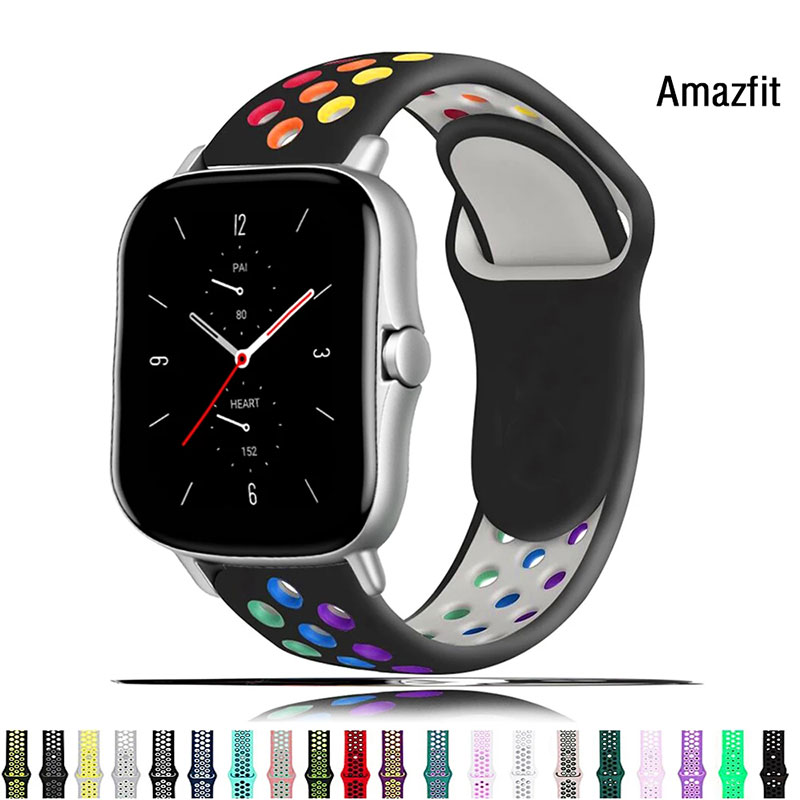 Bracelet For Amazfit GTS/2/2e/GTS 2 Mini/GTR 42mm/47mm/GTR2/2e/stratos 2/3 Sport smart watch band Amazfit bip/pace 20/22mm strap часы amazfit stratos smart sports watch 2 a1619 черный