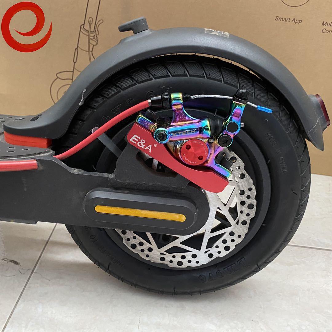 Xtech freio hidráulico da liga de alumínio para xiaomi m365/pro scooter elétrico m365 disco freios peças pistão hidráulico