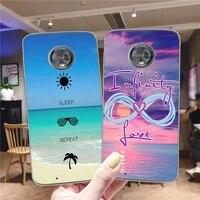 sunset beach case for motorola moto g9 play g8 g10 g7 g6 e7 e6 e6s e5 e4 plus play power lite soft tpu phone cases cover funda