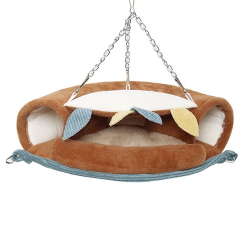 Hamaca túnel mascota cama colgante hurón rata Hamster pájaro ardilla cobertizo cueva jaula colgante jaula mascota pájaros loro suministros