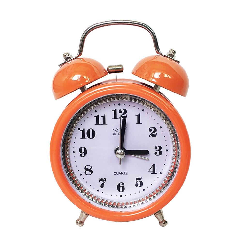 Reloj despertador Retro de doble campana para niños, dispositivo con batería analógica,...