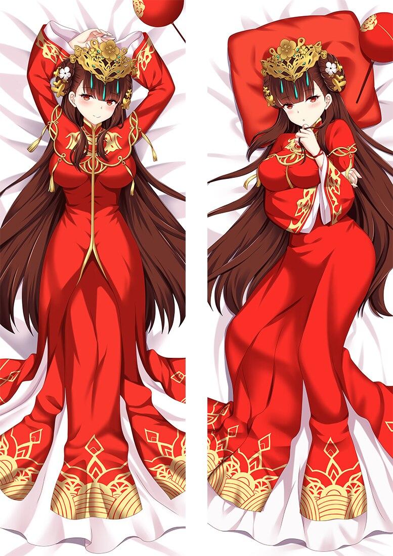 انمي ياباني مدرسة ثانوية السيف الفن على الانترنت غطاء وسادة عناق الجسم Otaku المخدة