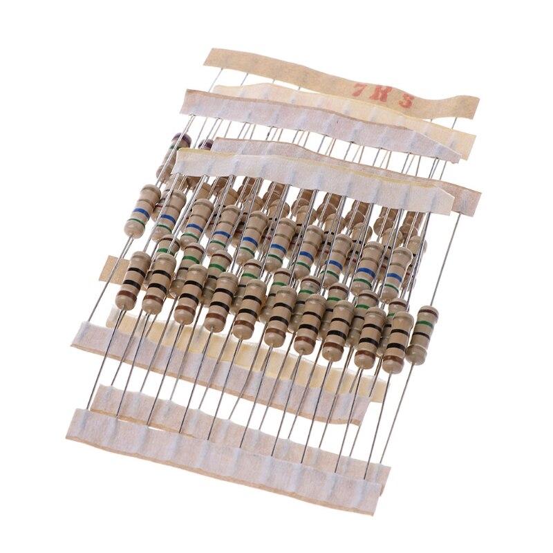 300Pcs Widerstand Kits 1W 5% 0,1-750 Ohm Carbon Widerstand 30 Werte Widerstand Set