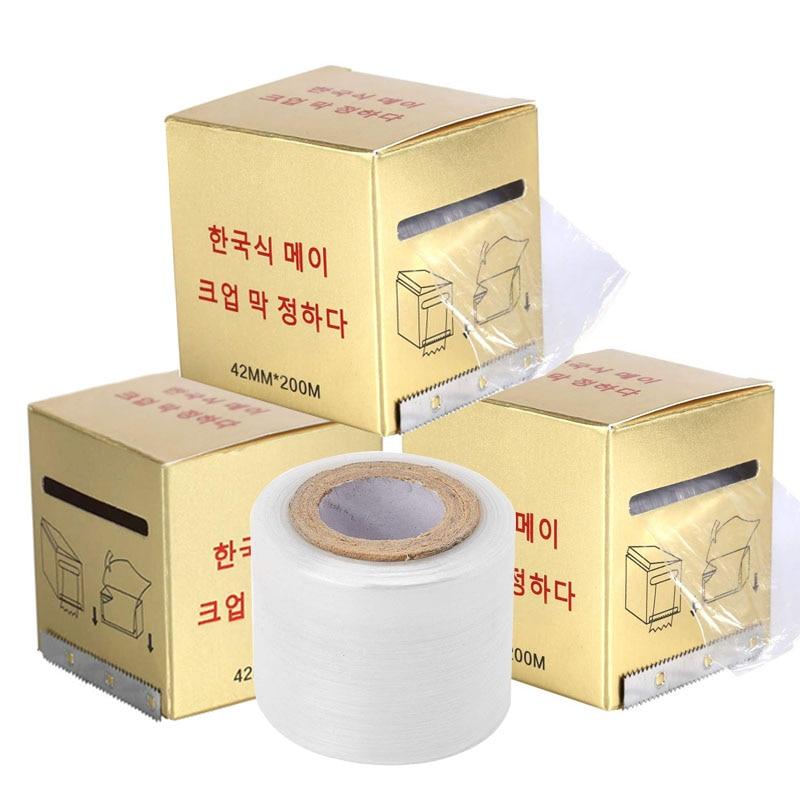 Película conservante para tatuajes, 3 cajas/juego, plástico transparente semipermanente, ceja desechable, suministros de maquillaje, cinta de cobertura