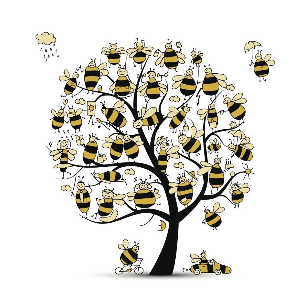AZSG divertido abejas sellos transparentes/sello DIY Scrapbooking tarjeta/Álbum de sello de silicio de artesanía
