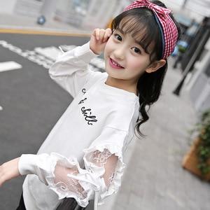 Fashion Cotton Girl T-shirts Long Sleeve t-Shirt cool striped Girls Shirts Tops Tees baby girls clothes Children Clothing