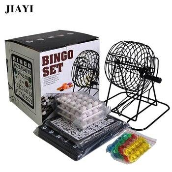 JIAYI Bingo Set 75 Balls Lottery Machine Draw Machine Bingo game for Public Show/Party/Commercial Performance Lucky Balls Game