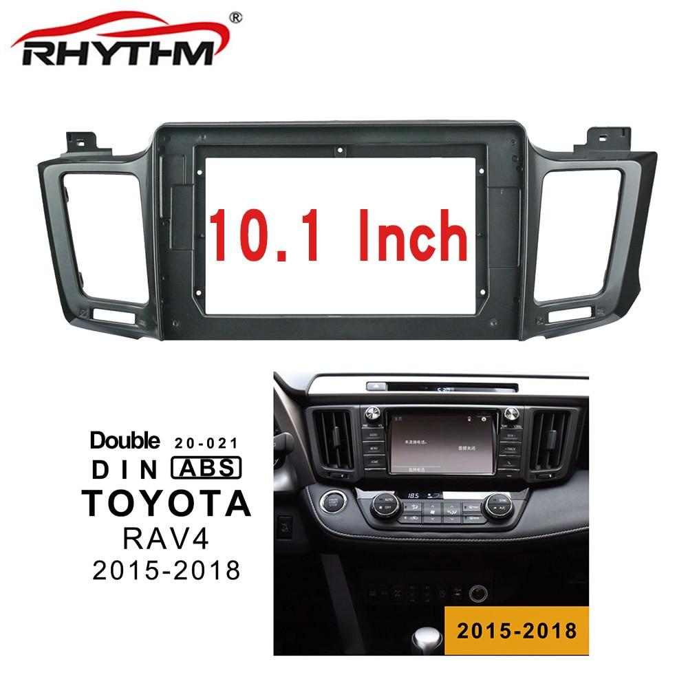 Salpicadero de coche 2din para Toyota RAV4 2015-2018 Panel de instalación doble Din coche DVD marco para 10 pulgadas ESTÉREO