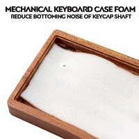 3mm customized mechanical keyboard keycap shell bottom shell sound absorbing cotton shock absorbing foam can reduce cavity sound