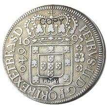 Pièces de rechange plaquées argent   Brésil 1695, 640 Ries