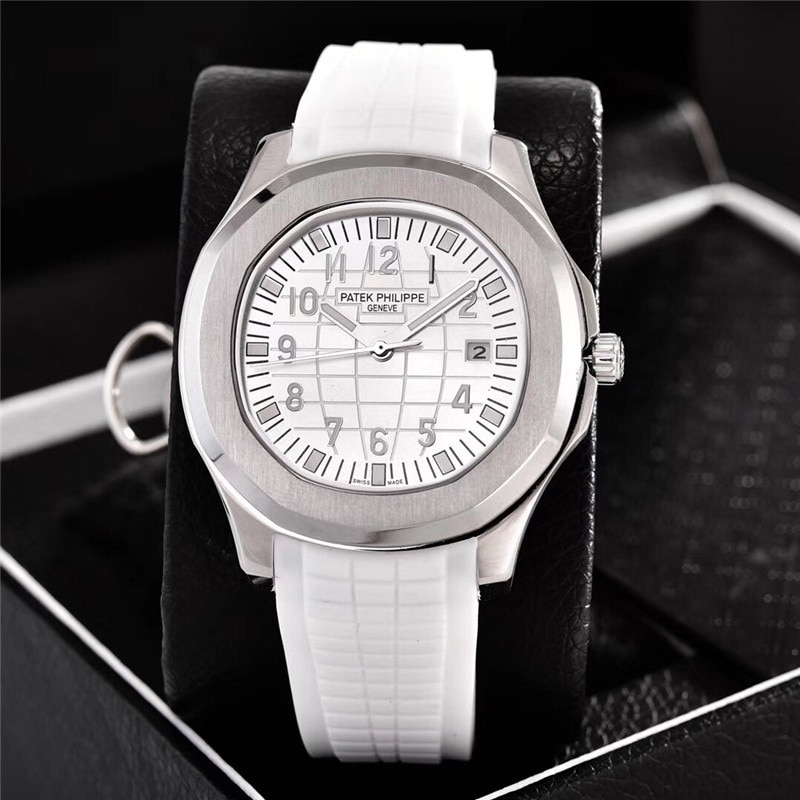 New Automatic Mechanical Men Watch Silver Blue Stainless Steel Transparent Sapphire Glass Glide Watches enlarge