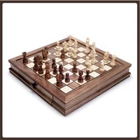 high quality table chess professional pieces wood tournament chess set wooden chess board schaakbord entertainment table game