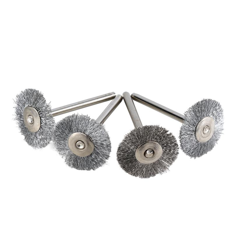 20pcs 22mm стоманена тел колело четка - Абразивни инструменти - Снимка 3