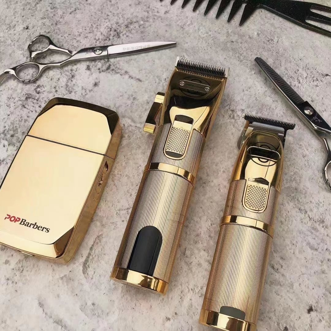 3PCS/lot POP  Barbers Electric Hair Clipper Cordless Trimmer Shaver Hairdressing For Men Beard Hair Shaving Barber Accessories enlarge