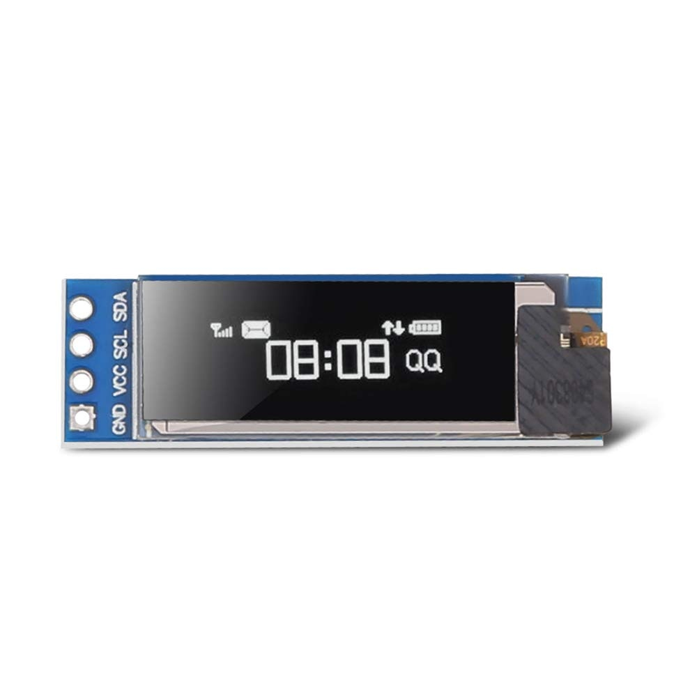 blue white oled lcd display 0 91 inch 128x32 iic i2c serial diy module ssd1306 driver ic 0 91 12832 ssd1306 for arduino pic 0.91 OLED I2C Display Module IIC 0.91 inch I2C SSD1306 LED DC Display Module Blue I2C LCD 128x32 Screen Driver