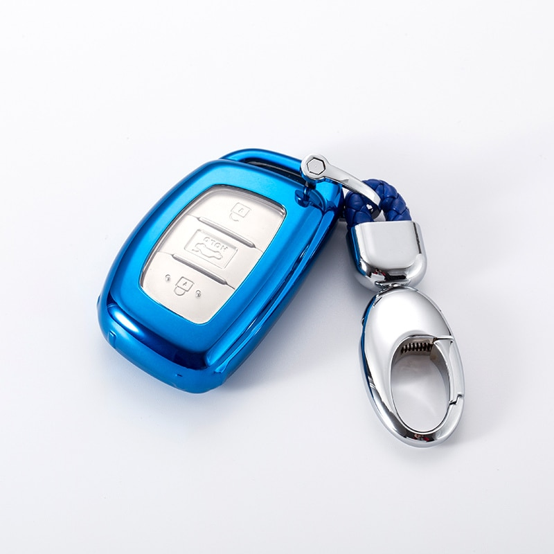 Suave TPU llavero coche llave funda para Hyundai i30 i10 i30 HB20 IX35 IX35 IX45 tufson Avante accesorios de la cubierta de la llave del coche