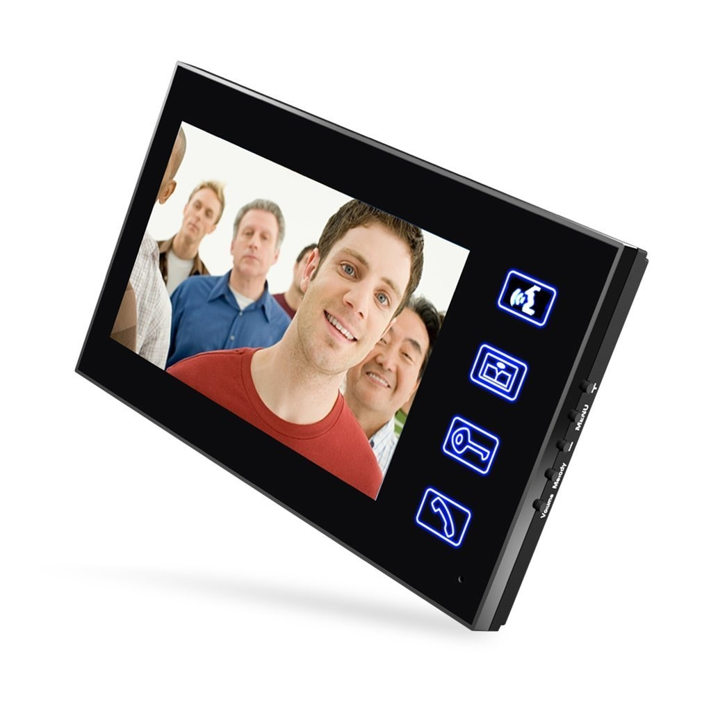 7 inch Color HD Touch Screen Wired RFID Password Video Door Phone Doorbell With IR Camera 200M Remote Control System Intercom enlarge