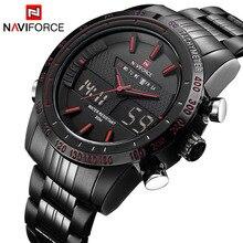 NAVIFORCE Luxury Brand Men Fashion Sport Watches Men's Quartz Digital Analog Clock Man Full Steel Wr