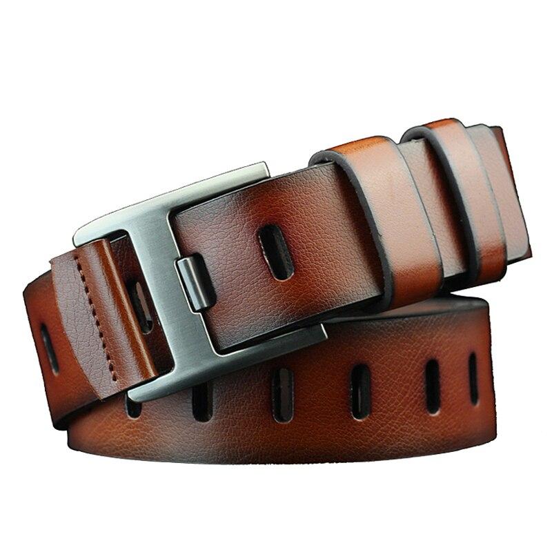 Коровья кожа мужские Премиум Мужской Пояс новые модные классические ретро pin застежка мужской кожаный ремень для мужчин
