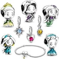 august new bead original cartoon disco character 100 sterling silver jewelry temperament bracelet beaded jewelry