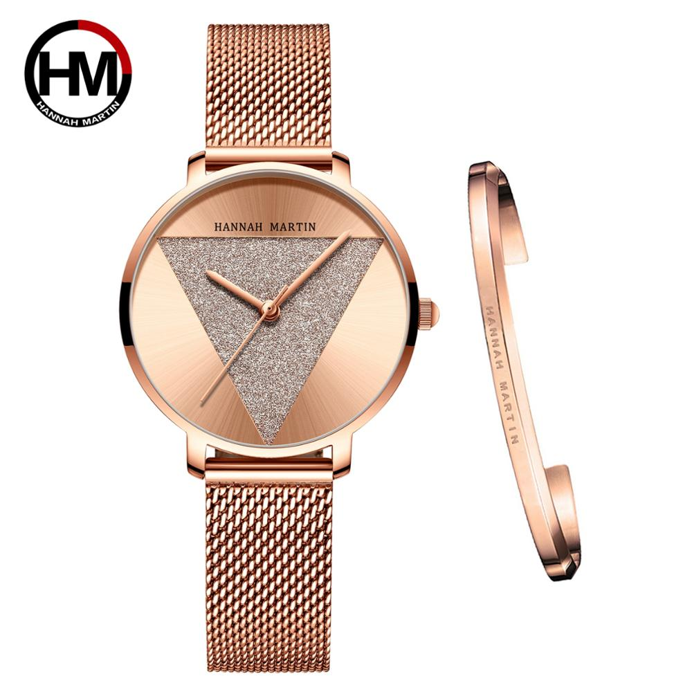High Quality 1 set Bracelet & Japan Quartz Waterproof Young Lady Watch Stainless Steel Mesh Band Women Watches Relogio Feminino enlarge