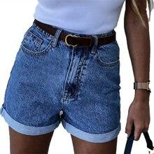 All Match Sashes Fashion Casual Women Denim Shorts Crimping High Waist Slim Summer Jeans Shorts Femi