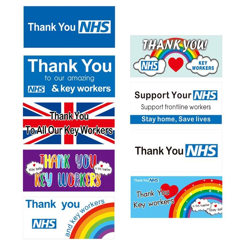 Weathervane bandeira cartaz slogan 2020 amor apoio nhs saúde enfermeira médico obrigado a todas as nossas principais obras herói bandeiras