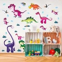 Autocollant Mural dinosaure Dino Dragon   Papier peint autocollant polychrome, Art Mural, décoration étanche en PVC, pour chambre de bébé et pépinière