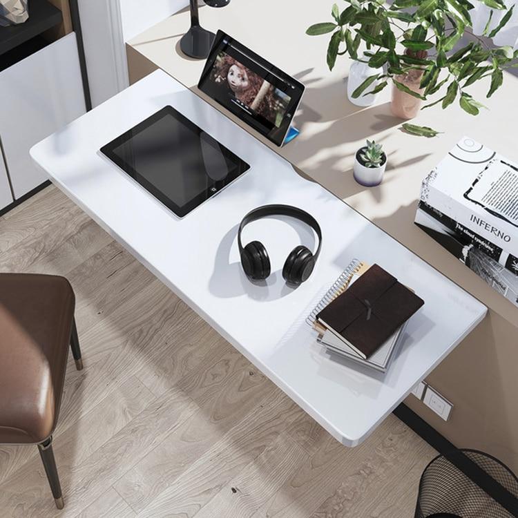 Складной компьютерный столик под ноутбук, подвесной настенный обеденный кухонный стол, складной письменный стол из массива дерева, МДФ, бел...