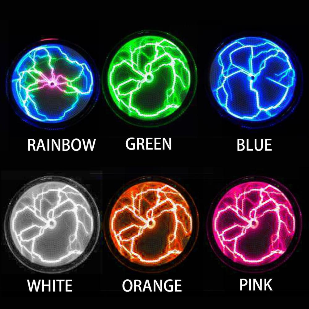 Placa de plasma de disco colorido relâmpago lâmpada férias discoteca festa decorações luz da noite