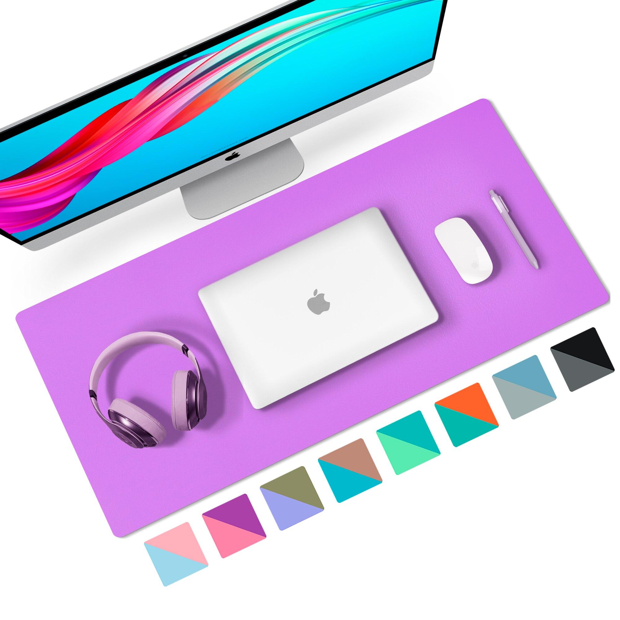 Tapis de bureau Double face en cuir Pu, pour ordinateur de bureau, clavier de jeu, grand pour ordinateur portable