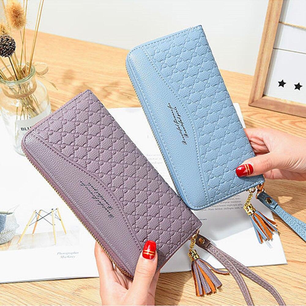 New Style  Zipper Women Wallet Long Clutch Bag Korean Version Small  Double Wallet Standard Wallets Women Fashion PU Leather