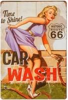 dingleievervintage tin sign for garage retro decor metal poster pinup girl plaque full service car wash