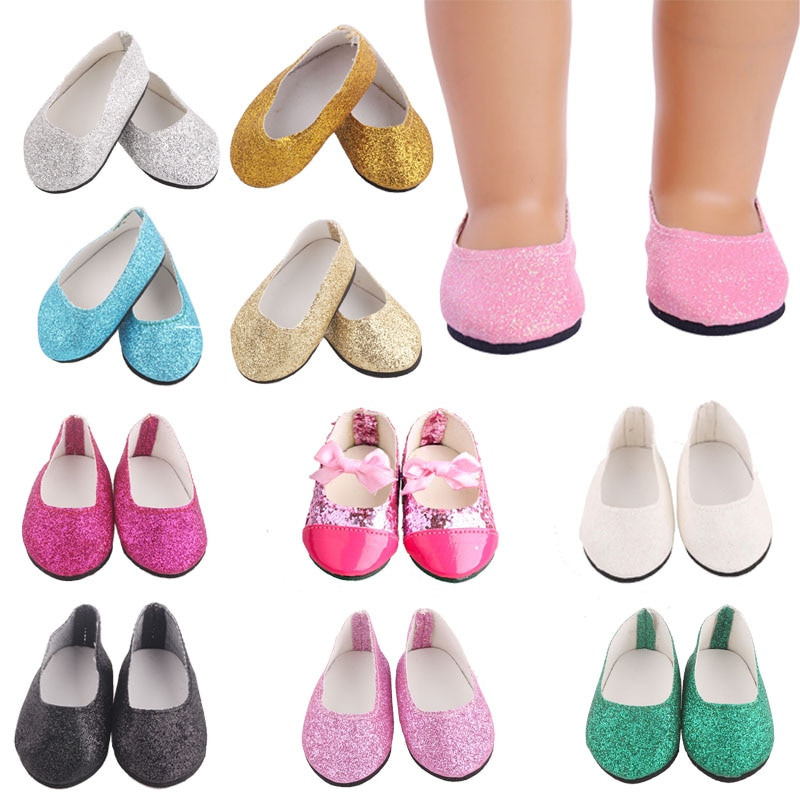 Doll Shoes Solid Color Shoes For 18 Inch Doll 43CM Dolls Baby Doll DIY Shoes For American Doll Acces