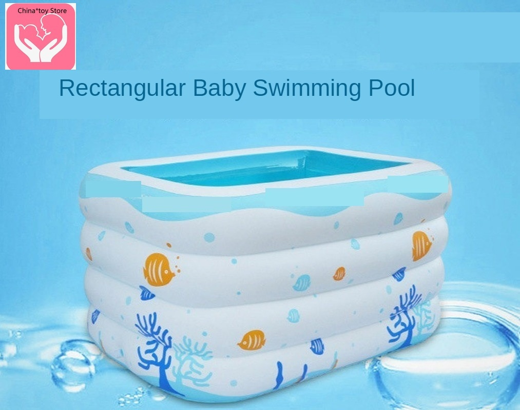 New PVC Environmentally Friendly Bathing Pool Large Thickened Inflatable Infant Baby Inflatable Swimming Pool Inflation
