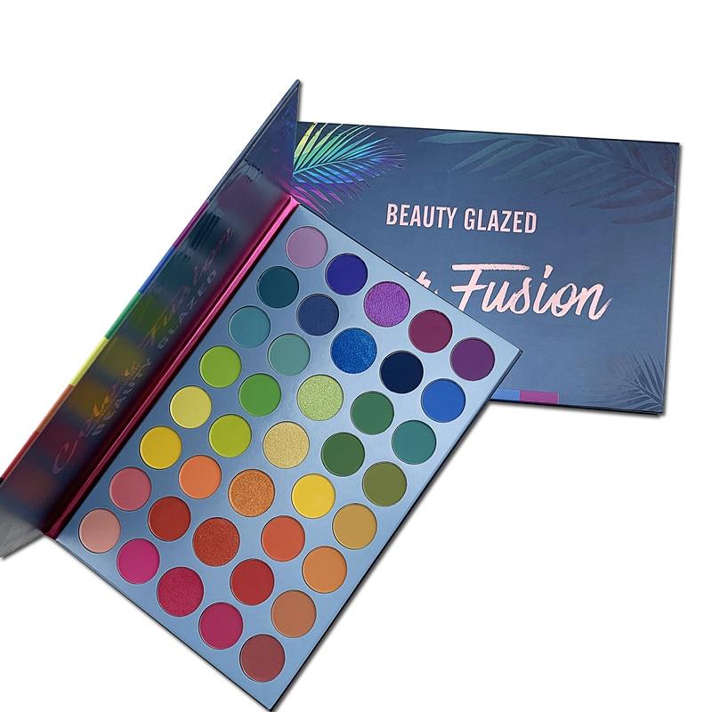 Beauty Glazed arcoíris paleta de sombra de ojos maquillaje mate brillo 39 colores altamente pigmentado profesional Nudes caliente Natural
